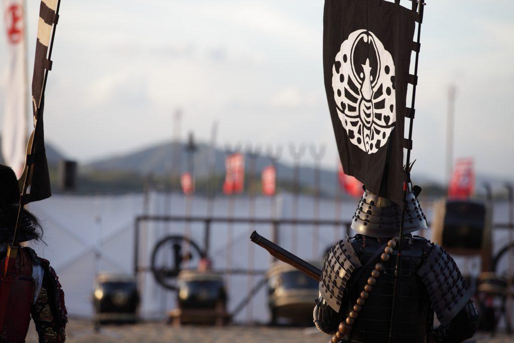 samurai on a battle field